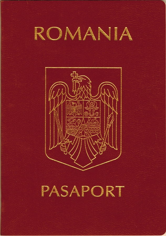 Romanian passport cover